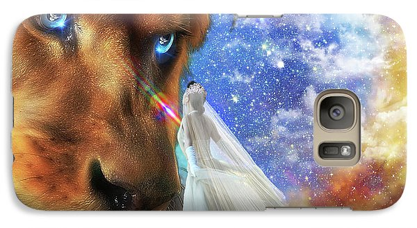 Galaxy Case featuring the digital art  Divine Perspective by Dolores Develde