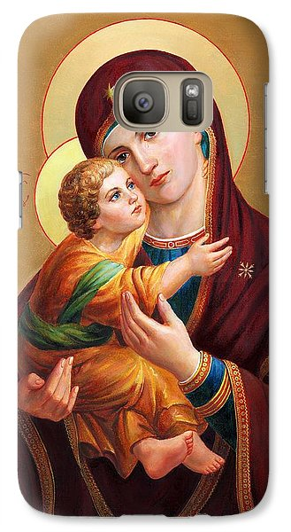 Galaxy Case featuring the painting Holy Mother Of God - Blessed Virgin Mary by Svitozar Nenyuk