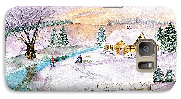 Galaxy Case featuring the painting Home For Christmas by Melly Terpening
