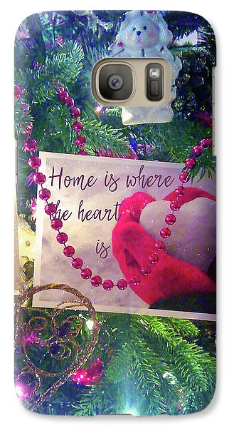 Galaxy Case featuring the photograph Home Is Where The Heart Is by Toni Hopper