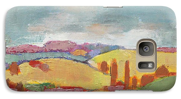 Galaxy Case featuring the painting Home Land by Becky Kim