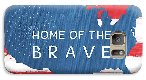 Home Of The Brave Galaxy Case by Linda Woods