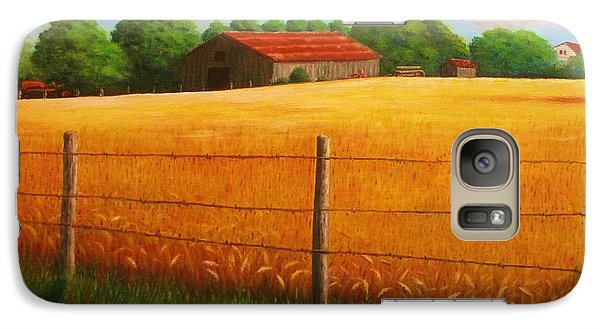 Galaxy Case featuring the painting Home On The Farm by Gene Gregory