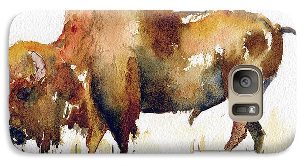 Galaxy Case featuring the painting Home On The Range Buffalo by Pat Katz