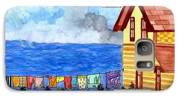 Galaxy Case featuring the painting Home Sweet Home by Connie Valasco