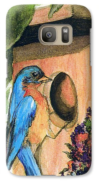 Galaxy Case featuring the painting Home Sweet Home by Gail Kirtz