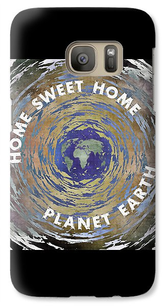 Galaxy Case featuring the digital art Home Sweet Home Planet Earth by Phil Perkins
