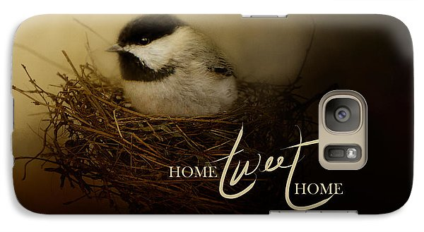Home Tweet Home With Words Galaxy Case by Jai Johnson
