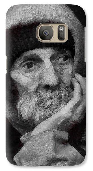 Galaxy Case featuring the digital art Homeless by Gun Legler