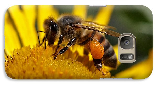 Galaxy Case featuring the photograph Honeybee At Work by Rona Black