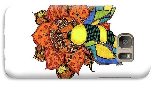 Honeybee On A Flower Galaxy S7 Case