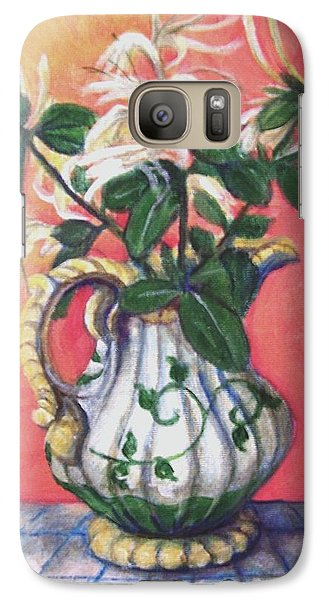 Galaxy Case featuring the painting Honeysuckle by Laura Aceto