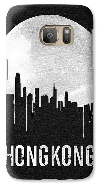 Hong Kong Skyline Black Galaxy S7 Case by Naxart Studio