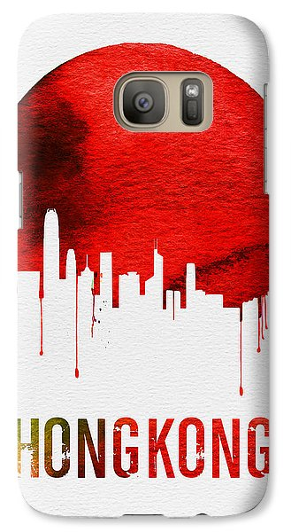 Hong Kong Skyline Red Galaxy S7 Case by Naxart Studio