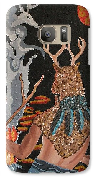 Galaxy Case featuring the painting Honoring by Carolyn Cable