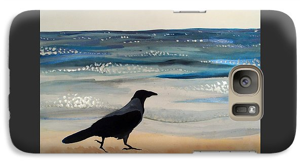 Hooded Crow At The Black Sea By Dora Hathazi Mendes Galaxy S7 Case by Dora Hathazi Mendes