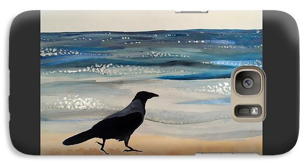 Hooded Crow At The Black Sea By Dora Hathazi Mendes Galaxy S7 Case