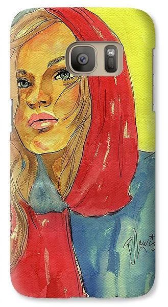 Galaxy Case featuring the painting Hoody by P J Lewis
