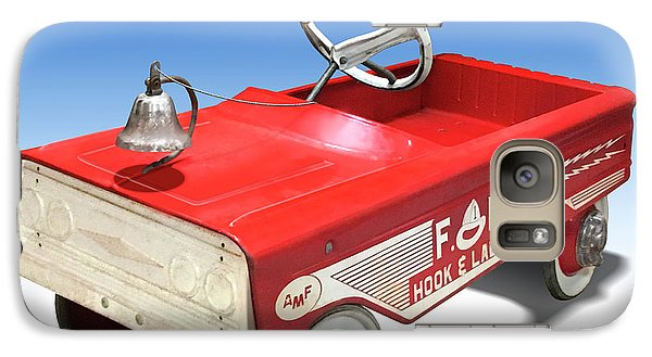 Galaxy Case featuring the photograph Hook And Ladder Peddle Car by Mike McGlothlen