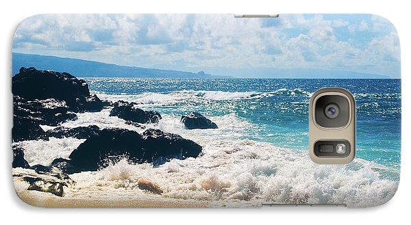 Galaxy Case featuring the photograph Hookipa Beach Maui Hawaii by Sharon Mau
