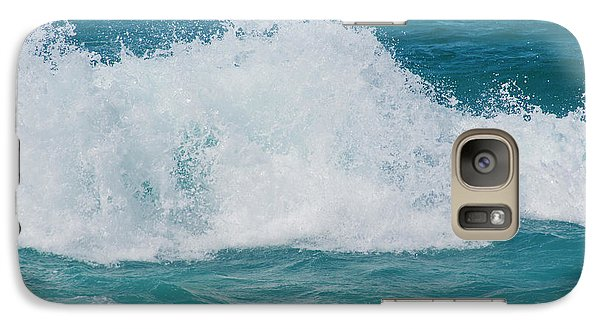 Galaxy Case featuring the photograph Hookipa Splash Waves Beach Break Shore Break Pacific Ocean Maui  by Sharon Mau