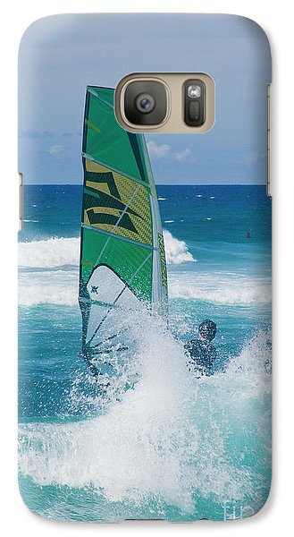 Galaxy Case featuring the photograph Hookipa Windsurfing North Shore Maui Hawaii by Sharon Mau