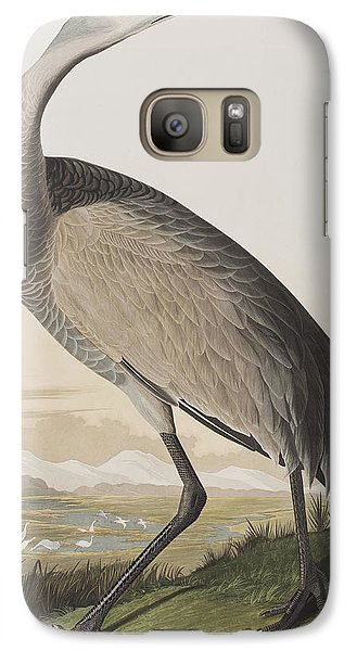 Hooping Crane Galaxy S7 Case by John James Audubon