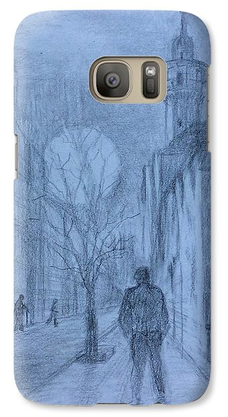 Galaxy Case featuring the painting  Moon Of Hope by Laila Awad Jamaleldin