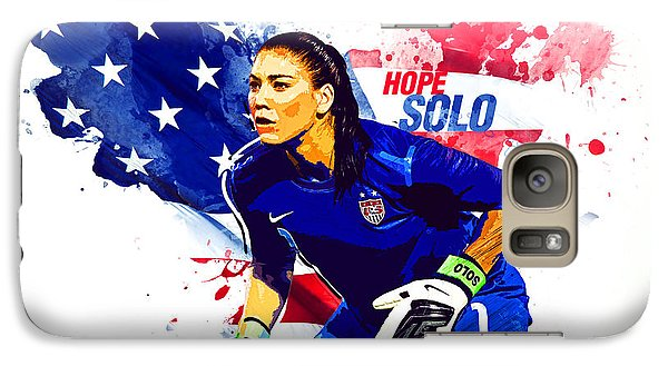 Hope Solo Galaxy S7 Case by Semih Yurdabak