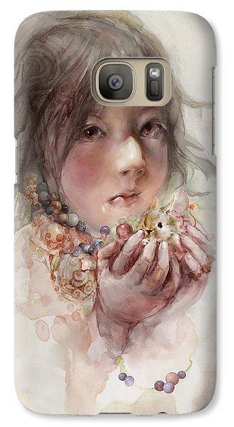 Galaxy Case featuring the digital art Hope by Te Hu