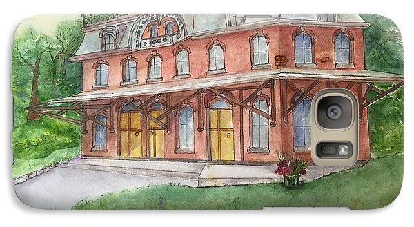 Galaxy Case featuring the painting Hopewell Nj Train Station by Lucia Grilletto