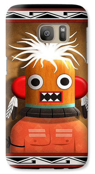 Galaxy Case featuring the digital art Hopi Indian Kachina by John Wills