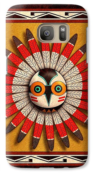 Galaxy Case featuring the digital art Hopi Owl Mask by John Wills