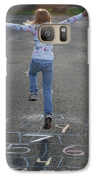 Galaxy Case featuring the photograph Hopscotch Queen by Richard Bryce and Family