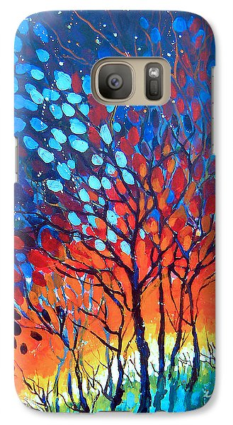 Galaxy Case featuring the painting Horizons by Linda Shackelford