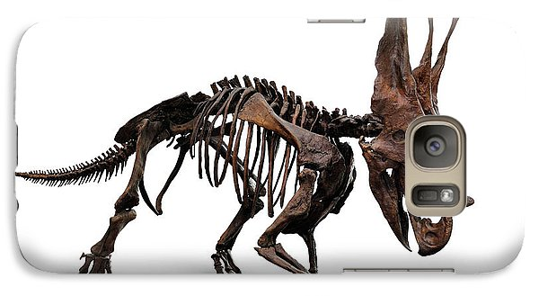 Horned Dinosaur Skeleton Galaxy S7 Case