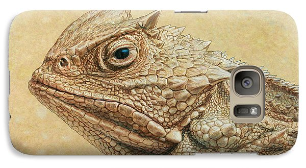 Amphibians Galaxy S7 Case - Horned Toad by James W Johnson