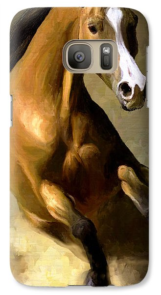 Galaxy Case featuring the painting Horse Agility by James Shepherd