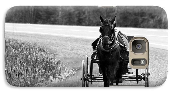 Galaxy Case featuring the photograph Horse And Buggy by Marjorie Imbeau
