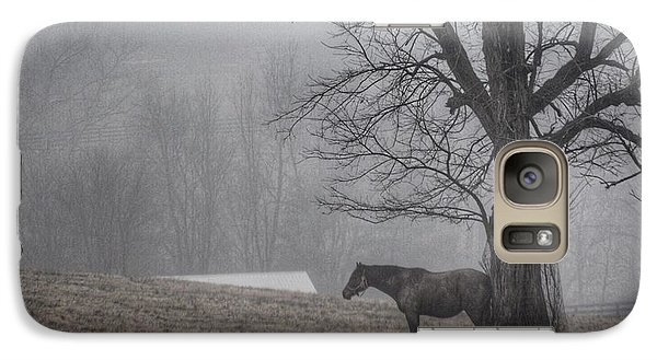Galaxy Case featuring the photograph Horse And Tree by Sumoflam Photography