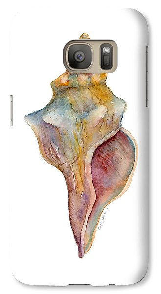 Beach Galaxy S7 Case - Horse Conch Shell by Amy Kirkpatrick