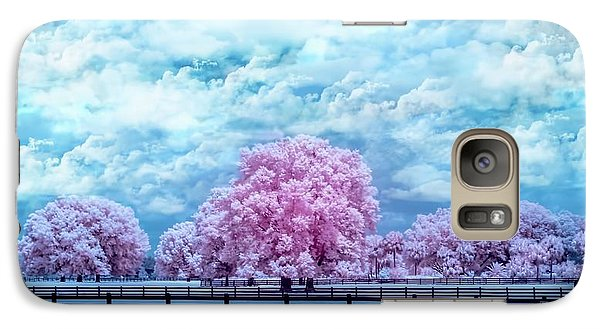Galaxy Case featuring the photograph Horse Country In Pink by Louis Ferreira