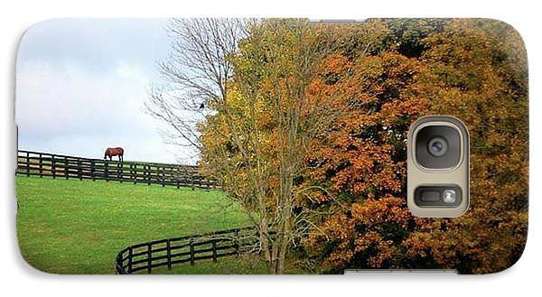 Galaxy Case featuring the photograph Horse Farm Country In The Fall by Sumoflam Photography