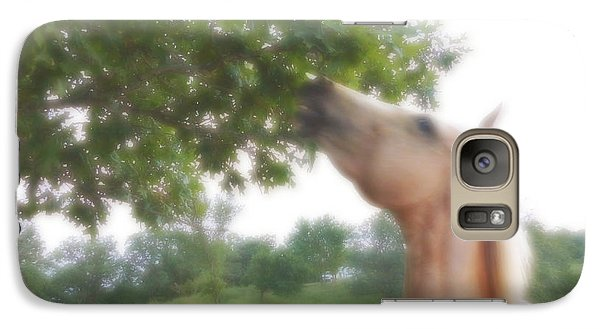Galaxy Case featuring the digital art Horse Grazes In A Tree by Jana Russon