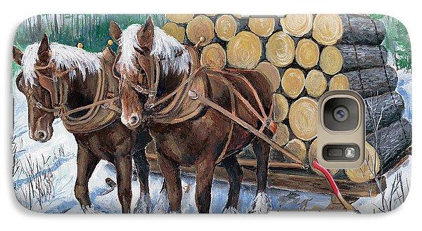 Horse Log Team Galaxy S7 Case