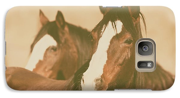 Galaxy S7 Case featuring the photograph Horse Portrait by Ana V Ramirez