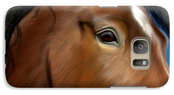 Horse Portrait Close Up Galaxy S7 Case