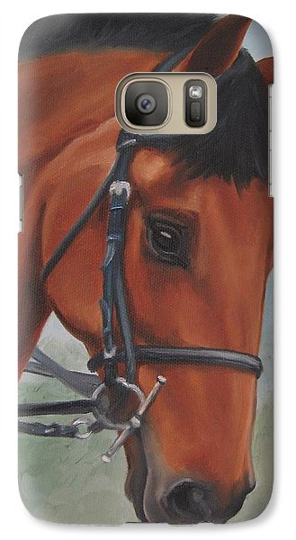 Galaxy Case featuring the painting Horse Portrait by Jindra Noewi