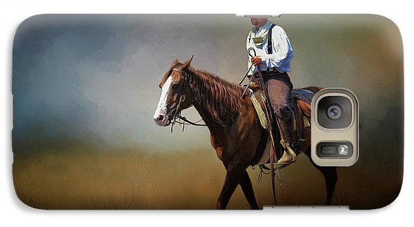 Galaxy Case featuring the photograph Horse Ride At The End Of Day by David and Carol Kelly