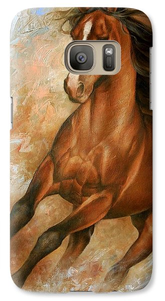 Horse Galaxy S7 Case - Horse1 by Arthur Braginsky